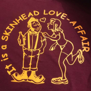 SKINHEAD LOVE AFFAIR T-SHIRT BURG & YELLOW